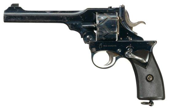 """Scarce Webley & Scott Webley-Fosbery Model 1902 """"Semi-Automatic"""" Revolver"""