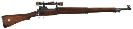 Scarce Post World War I Winchester Pattern 1914 Sniper Rifle with Matching Scope