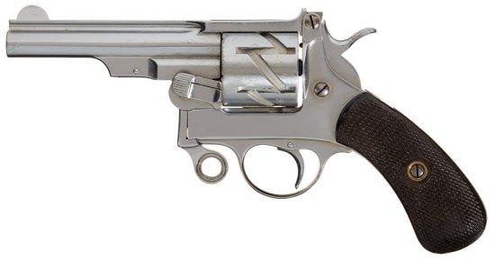 "Scarce Mauser Model 1878 ""Zig-Zag"" Single Action Revolver"