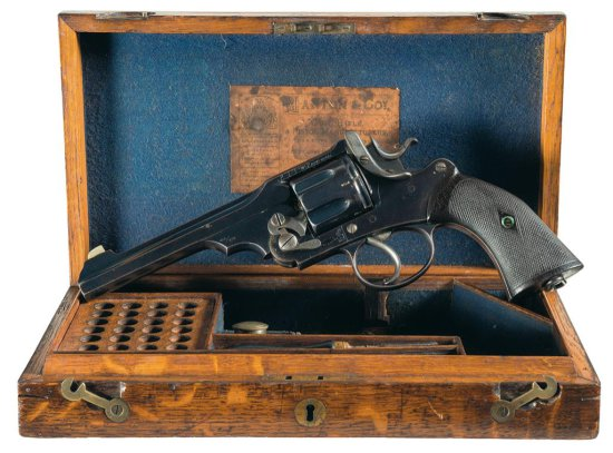 "Webley ""WG"" Army Model Double Action Revolver with Manton & Company Retailer Markings, Case and Acce"