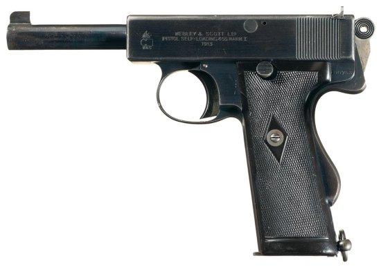 Webley & Scott Mark I Semi-Automatic Pistol