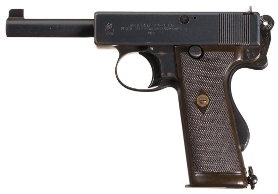 Webley & Scott Model 1913 Navy Marked Semi-Automatic Pistol with Holster and Shoulder Strap