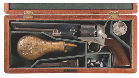Cased Colt Model 1861 Navy Percussion Revolver