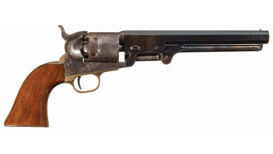 U.S. Marked W. Stokes Kirk Type Colt Model 1851 Navy Revolver