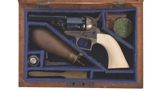 Cased Colt Model 1848 Baby Dragoon Percussion Revolver