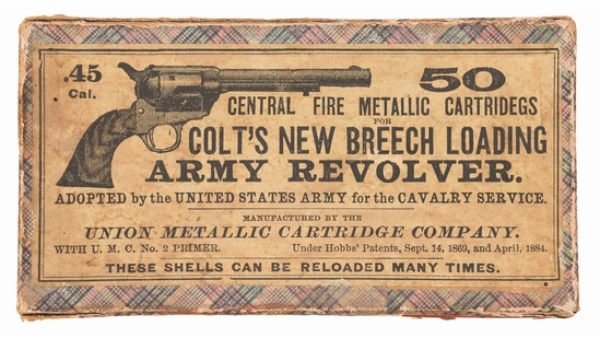 Union Metallic Cartridge Company .45 Colt Cartridge Box