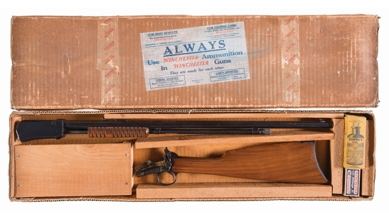 Winchester Model 1890 Slide Action Takedown Rifle with Box