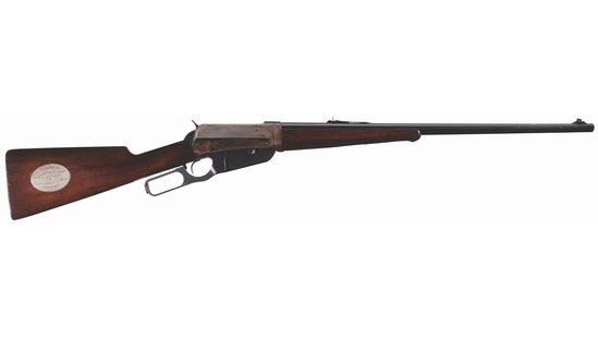 Prince of Monaco Presented Winchester Model 1895 .405 WCF Rifle
