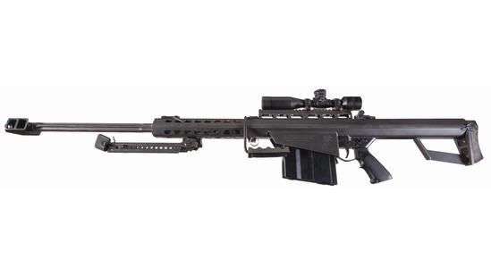 U.S. Marked Barrett M82A1 Semi-Automatic .50 BMG Sniper Rifle