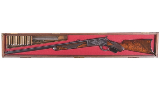 Winchester 1886 Rifle Engraved by Ulrich for the World's Fair