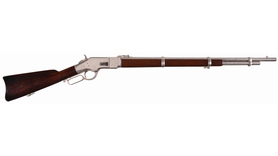 Nickel-Plated Winchester Model 1866 Lever Action Musket