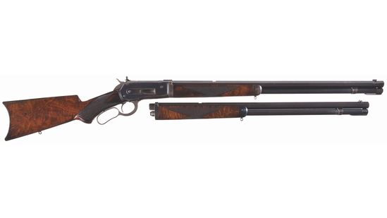 Winchester Deluxe Model 1886 Takedown Two Barrel Set Rifle