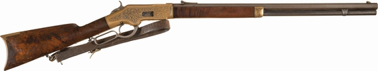 Deluxe Factory Engraved Winchester Model 1866 Lever Action Rifle