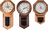 Three American Firearms Company Advertising Clocks