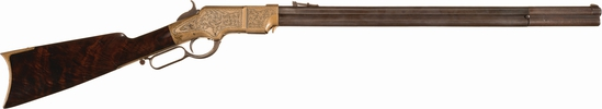 Engraved New Haven Arms Co. Henry Lever Action Rifle