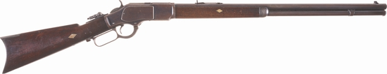 Antique Winchester Model 1873 .22 Rimfire Lever Action Rifle