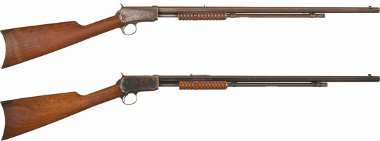Two Winchester Slide Action Rifles