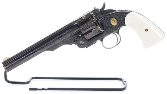 Engraved, Inlaid, and P. Piquette Signed S&W Schofield Revolver