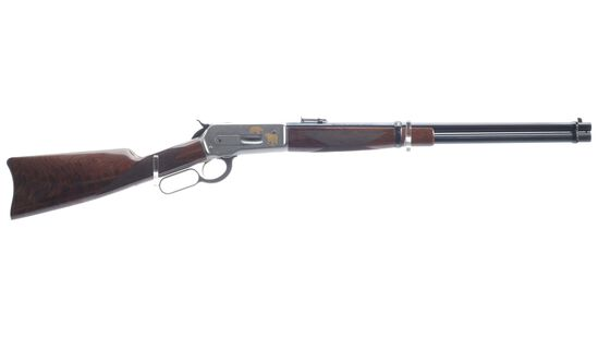 T. Mori Signed and Engraved Browning Model 1886 High Grade Rifle