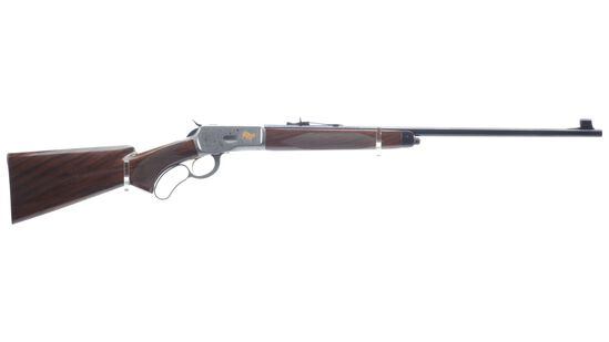 Engraved T. Naka Signed Browning High Grade Model 65 Rifle