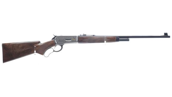 Engraved T. Naka Signed Browning High Grade Model 71 Rifle