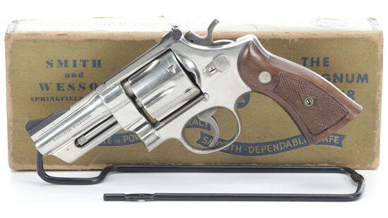 Nickel Smith & Wesson Pre-Model 27 Revolver with Box