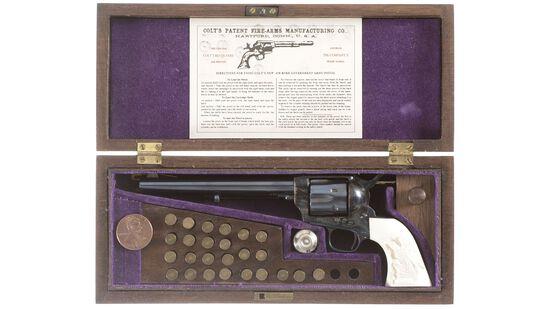 Cased Uberti Miniature Colt Single Action Army Revolver