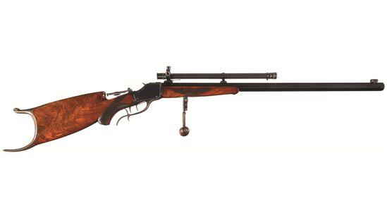 Winchester Deluxe Model 1885 High Wall Schuetzen Rifle