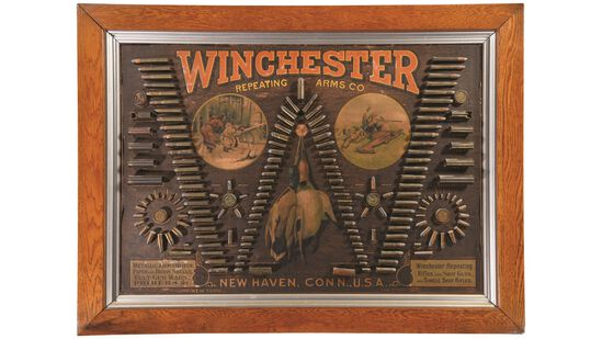 "Winchester ""Single W"" Cartridge Display Bullet Board"