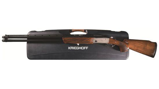 Factory Engraved Krieghoff K-80 Over/Under Shotgun with Cases