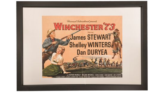 Winchester '73 Movie Lobby Card and Photo Signed by Stuart