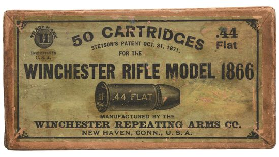 Box of Winchester 44 Flat Ammunition for Model 1866 Rifle