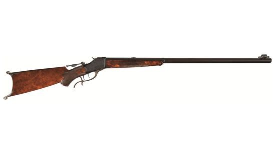 Factory Engraved Winchester Deluxe Model 1885 Rifle