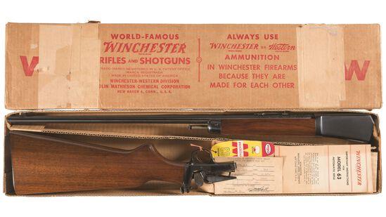 Winchester Model 63 Semi-Automatic Rifle with Box
