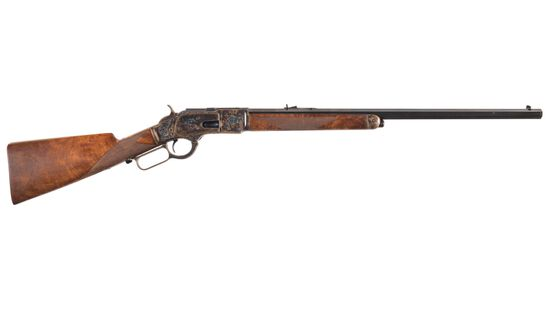 Engraved Winchester Model 1873 Lever Action Rifle