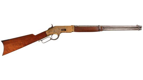 Engraved Winchester Model 1866 Lever Action Saddle Ring Carbine