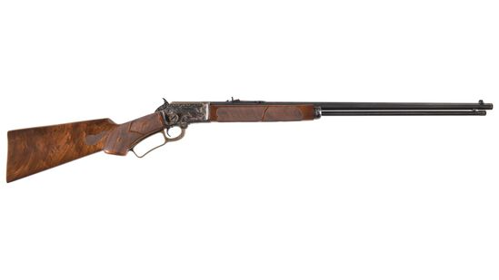 Game Scene Engraved Marlin Model 39 Lever Action Rifle