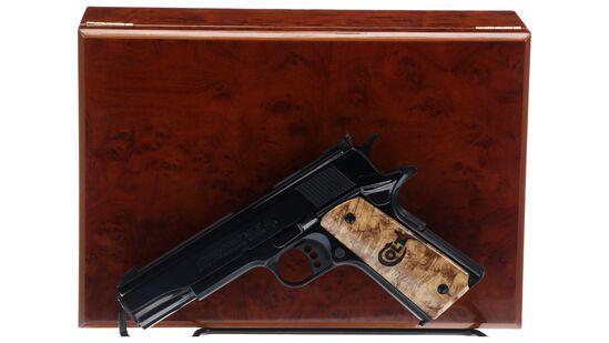 Cased Colt MK IV Series 80 Gold Cup National Match Pistol