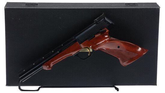 Cased Belgian Browning Medalist Semi-Automatic Pistol
