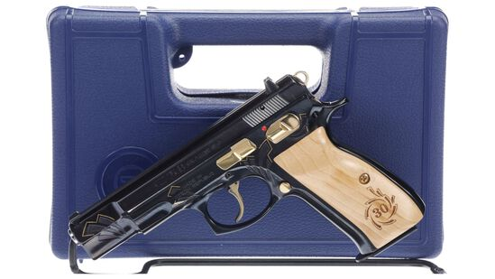 CZ Model 75 B 30th Anniversary Edition Semi-Automatic Pistol wit