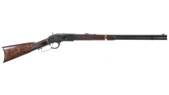 Engraved Winchester Deluxe Style Model 1873 Rifle