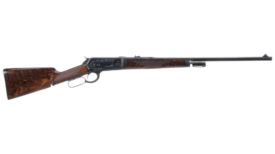 Engraved Winchester Deluxe Style Model 1886 Rifle
