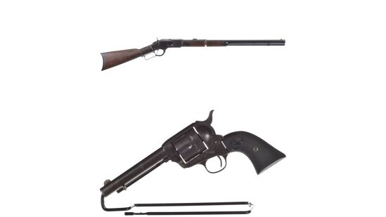 One Winchester Model 1873 Rifle and One Colt Single Action Army