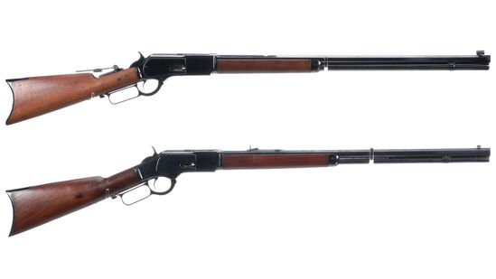 Two Antique Winchester Lever Action Rifles