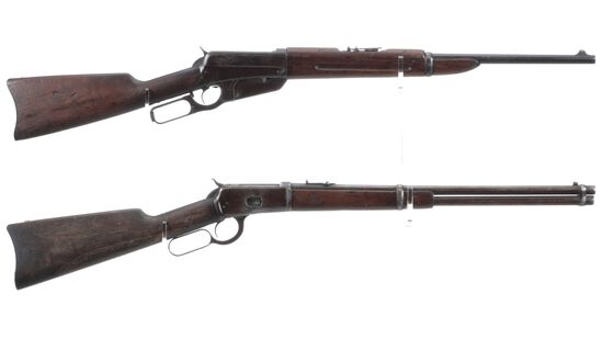 Two Winchester Lever Action Saddle Ring Carbines