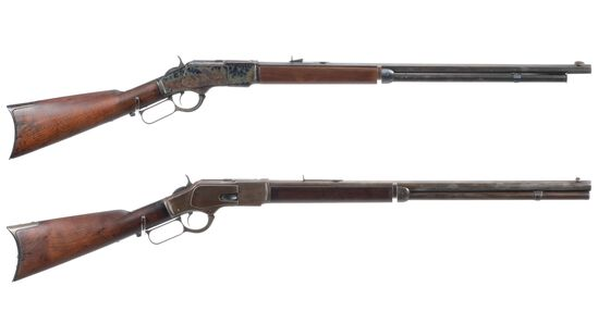 Two Winchester Model 1873 Lever Action Rifles