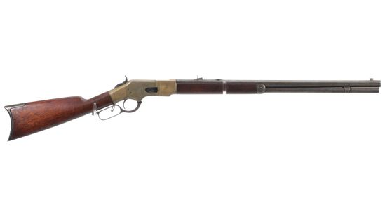 Engraved Winchester Model 1866 Lever Action Rifle
