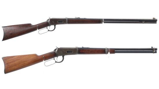 Two Winchester Model 1894 Lever Action Long Guns