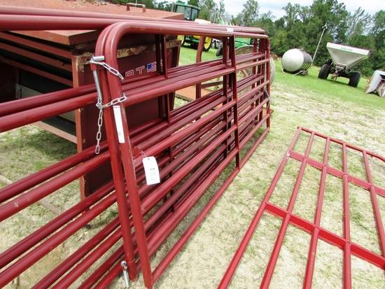 (2) 10' RED PANEL GATES