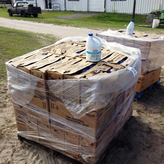 PALLET OF POOL BLEACH-126 GALLONS